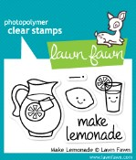 MAKE LEMONADE Clear Stamp Set from Lawn Fawn