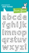 QUINN's ABC'S Clear Stamp Set from Lawn fawn