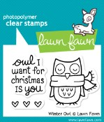 WINTER OWL Clear Stamp Set from Lawn Fawn