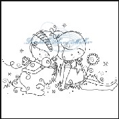 LILY & MILO ENJOY THE MOMENT Clear Stamp from Rachelle Anne Miller