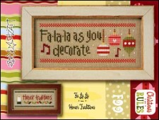 Christmas Rules Double Flip - FALALA/HONOR TRADITIONS Cross Stitch Chart with Embellishments from Lizzie Kate