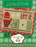 Jingles Series - LET IT SNOW Cross Stitch Pattern from Lizzie Kate