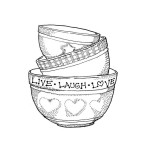 LOVE BOWLS Stickable Rubber Stamp from Great Impressions