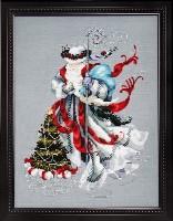 WINTER WHITE SANTA Cross Stitch Pattern by Nora Corbett from Mirabilia Designs
