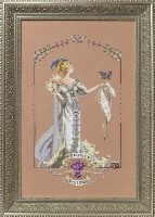 LADY MIRABILIA Cross Stitch Pattern With Special Charm by Nora Corbett from Mirabilia Designs