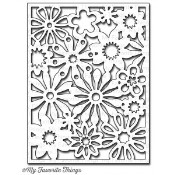 DIE-NAMICS FLORAL FUSION COVER UP DIE from My Favorite Things MFT Stamps