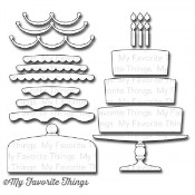 DIE-NAMICS BRING ON THE CAKE DIE SET Laina Lamb Collection from My Favorite Things MFT Stamps