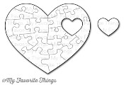 New! DIE-NAMICS HEART PUZZLE DIE SET from My Favorite Things MFT Stamps