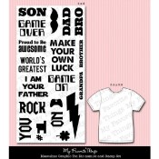 DIE-NAMICS MASCULINE GRAPHIC TEE DIE & MATCHING STAMP SET from My Favorite Things MFT Stamps