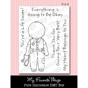 EMT BOY Clear Stamp Set Pure Innocence Collection from My Favorite Things MFT Stamps