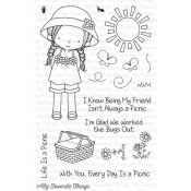 EVERY DAY IS A PICNIC Clear Stamp Set Birdie Brown Designs from My Favorite Things MFT Stamps