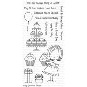 SWEET BIRTHDAY WISHES Clear Stamp Set Birdie Brown Designs from My Favorite Things MFT Stamps