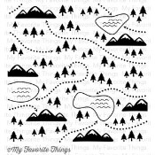 BG IN THE WILDERNESS BACKGROUND STAMP from My Favorite Things MFT Stamps