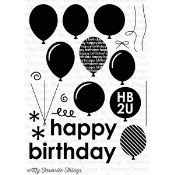 PARTY BALLOONS Clear Stamp Set Die-Namics Companion Collection from My Favorite Things MFT Stamps