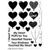 **PREORDER** New! HEART BALLOONS Clear Stamp Set Die-Namics Companion Collection from My Favorite Things MFT Stamps