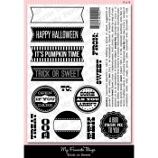 TRICK OR SWEET Clear Stamp Set Die-Namics Companion Collection from My Favorite Things MFT Stamps
