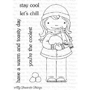 YOU'RE THE COOLEST Clear Stamp Set Doodle Garden Collection from My Favorite Things MFT Stamps