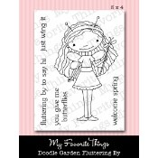 FLUTTERING BY Clear Stamp Set Doodle Garden Collection from My Favorite Things MFT Stamps