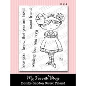 SWEET FRIEND Clear Stamp Set Doodle Garden Collection from My Favorite Things MFT Stamps