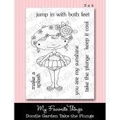 TAKE THE PLUNGE Clear Stamp Set Doodle Garden Collection from My Favorite Things MFT Stamps