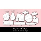 DIE-NAMICS ACCENT IT - SCHOOL DAYS DIE Laina Lamb Designs from My Favorite Things MFT Stamps