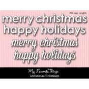 DIE-NAMICS CHRISTMAS GREETINGS DIE from My Favorite Things MFT Stamps