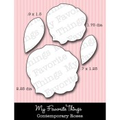 DIE-NAMICS CONTEMPORARY ROSES DIE Mona Pendleton Designs from My Favorite Things MFT Stamps