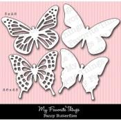 **REORDER** DIE-NAMICS FANCY BUTTERFLIES DIE Mona Pendleton Designs from My Favorite Things MFT Stamps