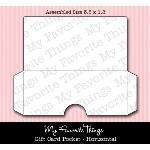 DIE-NAMICS GIFT CARD POCKET HORIZONTAL DIE from My Favorite Things MFT Stamps