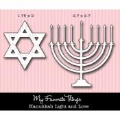 DIE-NAMICS HANUKKAH LIGHT AND LOVE DIE SET from My Favorite Things MFT Stamps
