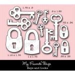DIE-NAMICS KEYS AND LOCKS Die Set from My Favorite Things MFT Stamps