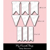 DIE-NAMICS BITTY BANNERS DIE SET Lisa Johnson Designs Collection from My Favorite Things MFT Stamps