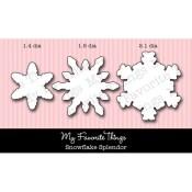 DIE-NAMICS SNOWFLAKE SPLENDOR DIE SET Lisa Johnson Designs from My Favorite Things MFT Stamps