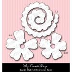 DIE-NAMICS LARGE HYBRID HEIRLOOM ROSE Die Set from My Favorite Things MFT Stamps