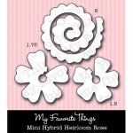 DIE-NAMICS MINI HYBRID HEIRLOOM ROSE Die Set from My Favorite Things MFT Stamps