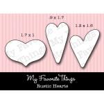 DIE-NAMICS RUSTIC HEARTS DIE SET from My Favorite Things MFT Stamps