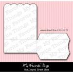 DIE-NAMICS SCALLOPED TREAT BOX DIE SET from My Favorite Things MFT Stamps