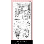 INSPIRED BY THE FRONT PORCH - SPRING Clear Stamp Set Inspired By Collection from My Favorite Things MFT Stamps