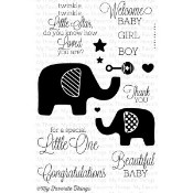 BEAUTIFUL BABY Clear Stamp Set Lisa Johnson Designs from My Favorite Things MFT Stamps