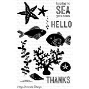 SEA LIFE Clear Stamp Set Lisa Johnson Designs from My Favorite Things MFT Stamps