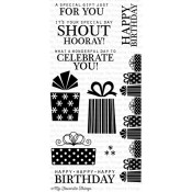 CELEBRATE YOU Clear Stamp Set Lisa Johnson Designs from My Favorite Things MFT Stamps