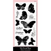 BLISSFUL BUTTERFLIES Clear Stamp Set Lisa Johnson Designs from My Favorite Things MFT Stamps