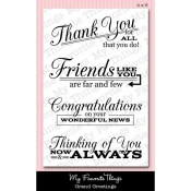 GRAND GREETINGS Clear Stamp Set Lisa Johnson Designs from My Favorite Things MFT Stamps