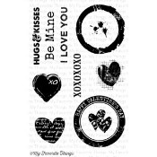 DISTRESSED HEARTS Clear Stamp Set Mona Pendleton Designs from My Favorite Things MFT Stamps