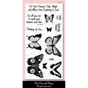 WINGED BEAUTIES Clear Stamp Set Mona Pendleton Designs from My Favorite Things MFT Stamps