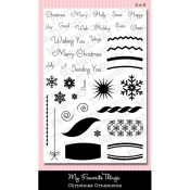 CHRISTMAS ORNAMENTS Clear Stamp Set Die-Namics Companion Collection from My Favorite Things MFT Stamps