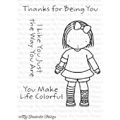 JUST THE WAY YOU ARE Clear Stamp Set Pure Innocence Collection from My Favorite Things MFT Stamps