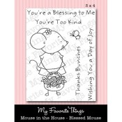MOUSE IN THE HOUSE BLESSED MOUSE Clear Stamp Set Pure Innocence Collection from My Favorite Things MFT Stamps