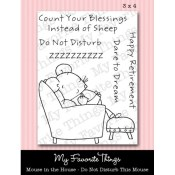 DO NOT DISTURB THIS MOUSE Clear Stamp Set Pure Innocence Collection from My Favorite Things MFT Stamps