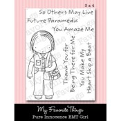 EMT GIRL Clear Stamp Set Pure Innocence Collection from My Favorite Things MFT Stamps